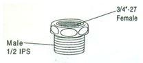 Brass Spud Nut and Escutcheon, #635 Image