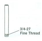 Chrome Plated Tubing for Urinal Flush Assemblies, #721 - 726-B Image