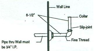 Urinal Connection for Exposed Tank or Top Inlet Urinal, #920-01 Image