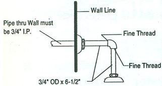 Urinal Connection for Exposed Tank or Top Inlet Urinal, #930 Image