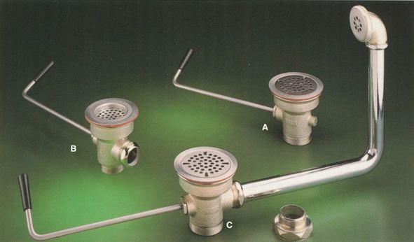Twist Handle Waste Outlet, #D50-(4161-7215) Image