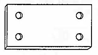 CP Brass Flat Plate, #121 Image
