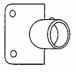 45-Degree Wall Flange, #55-A Image